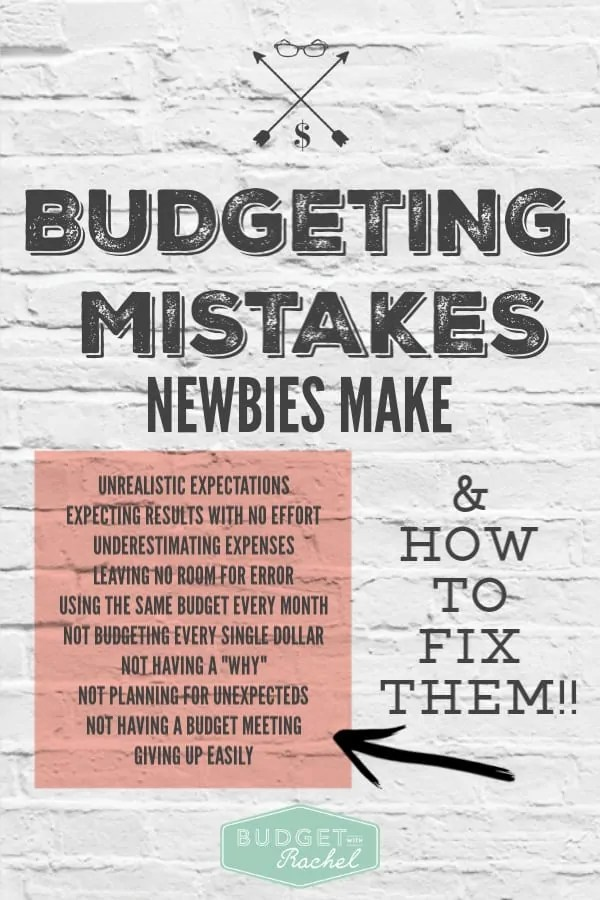 Common mistakes new budgeters make | budgeting for beginners | tips for budget beginners | budgeting mistakes to avoid if you are new to budgeting | budget tips | finance tips | personal finance budget management | budget repair | 10 things to avoid when you first start budgeting #budget #budgettips #money #financetips #personalfinance