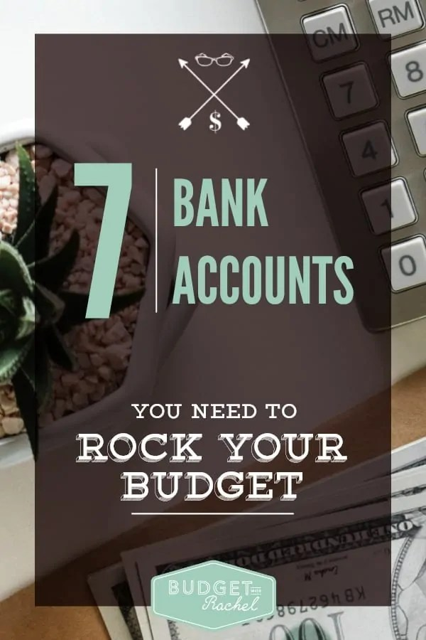 7 Bank Accounts You Need to Master Your Budget. This is amazing! Multiple bank accounts are the answer to our budget failing in the past. I always struggled with knowing where to put the money we were saving for certain expenses. Not anymore! The second bank account was surprising, but totally necessary! I am so glad I found this.