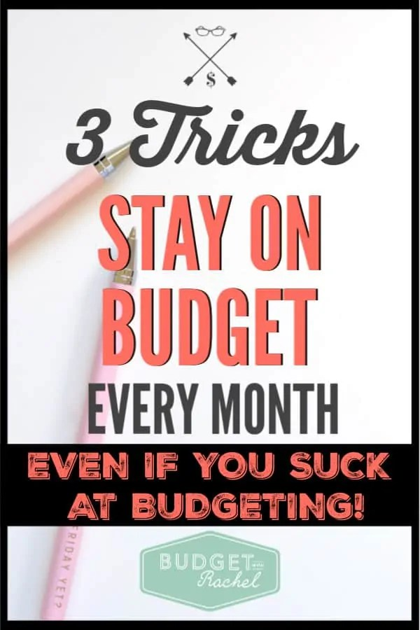 If you struggle to stick to your budget every month, these are 3 surefire ways to help you actually do what your budget is telling you to do! These budget tips are exactly what you need if you have struggled with your budget in the past. Get started today! #budget #budgettips #financetips