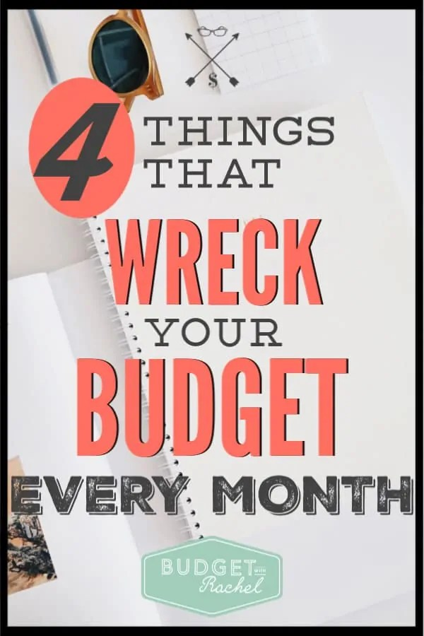 Not sure why your budget isn't working? Make sure it isn't one of these things wrecking your budget. Don't make these budgeting mistakes! #budget #budgetingtips #savemoney #freeprintables