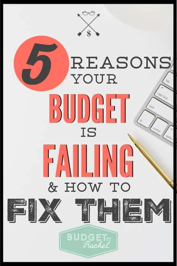 Budgeting doesn't have to be overly complicated. If you are struggling with your budget, you are probably doing one of these five things. Here is exactly how to fix them! Start rocking your budget today! #budget #budgettips #freeprintables