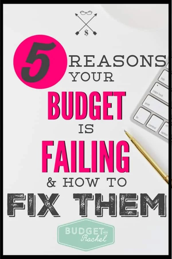If you struggle to stick with your budget every month, there are the most common reasons this happens. BUT, these happen to everyone and you can totally fix them. Stop struggling with your budget. Use these budget tips to get back on track and stick to your budget every month! #budget #budgettips #freeprintables
