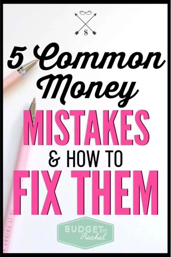We all make money mistakes, but these can be serious mistakes that impact your future. I had made four of these mistakes, but was able to turn it around with these solutions! Financial mistakes happen, but you can fix them! #financialfreedom #personalfinance #savemoney