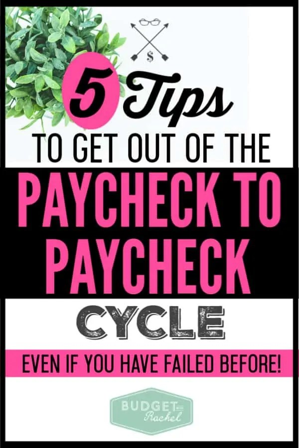 I had been living paycheck to paycheck for so long. I didn't think it was possible to not live that way. Once I implemented these 5 money management tips, I stopped having that problem! These tips are so easy and so actionable. They will work for you if you have been living paycheck to paycheck. I'm no longer stressed about payday and it feels amazing!
