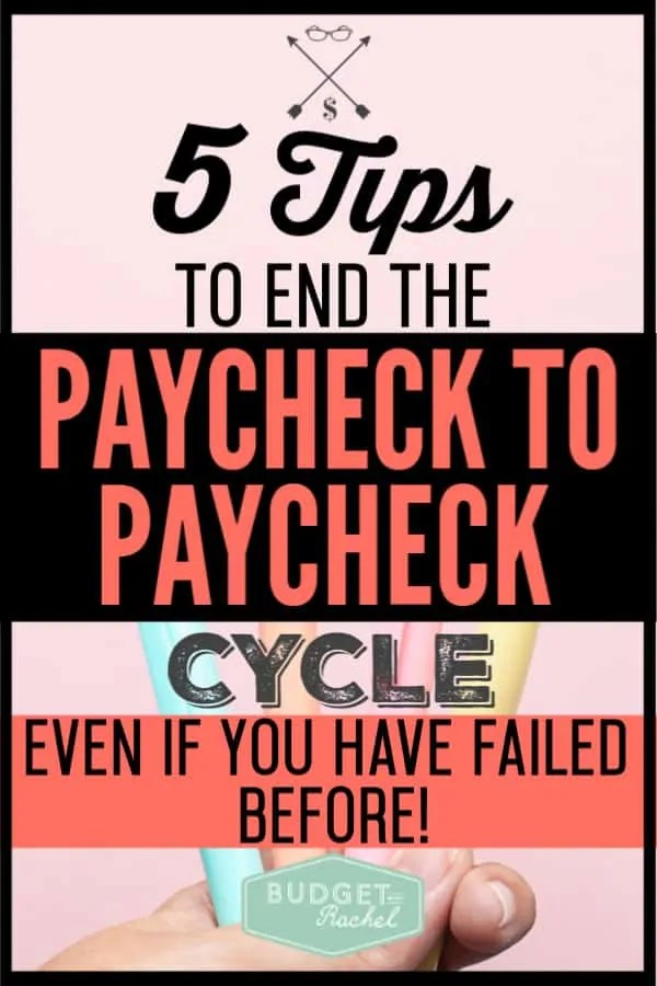 If you are tired of living paycheck to paycheck, you are in the right place! If you can follow these steps, you can end the cycle of living from bill to bill. Take control of your money today with these awesome money management tips! #budget #budgettips #moneymanagementtips