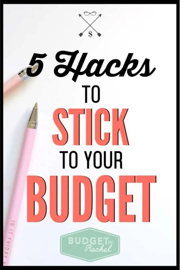 If you struggle with actually sticking to your budget, these five tips will help you finally get control over your money. These must know budgeting hacks will make all the difference for you! Stop struggling to stick to your budget and start crushing it instead. #budgettips #budget #freeprintables