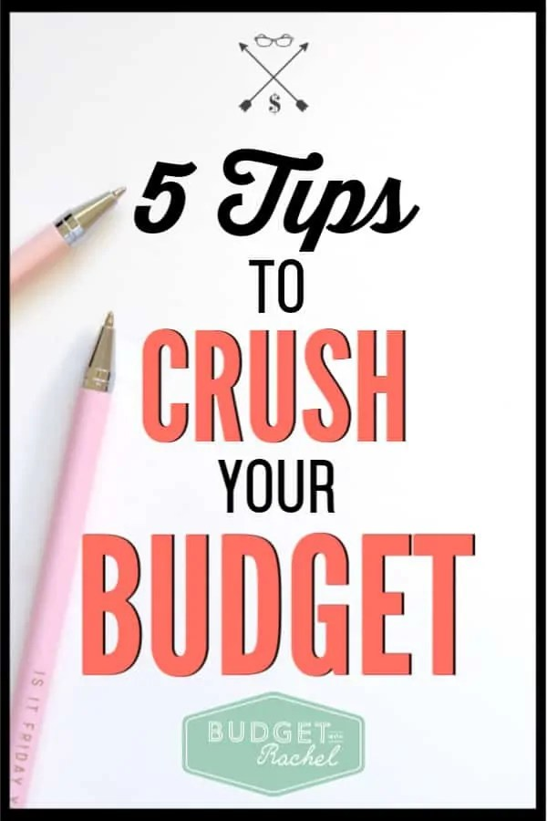 Use these budget tips to stick to your budget without fail. Budgeting can seem challenging at times, but these simple tips will help you crush your budget! Start living your best financial life today. #budget #budgettips #freeprintables