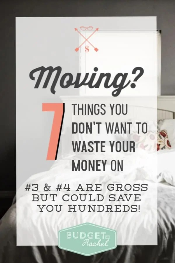 Avoid these common expenses if you are moving | expenses you need to avoid if you are moving | don't waste your money on these 7 things after you move | save money moving | save money tips | money saving ideas #savemoneytips #savemoney #house #moving #freeprintables