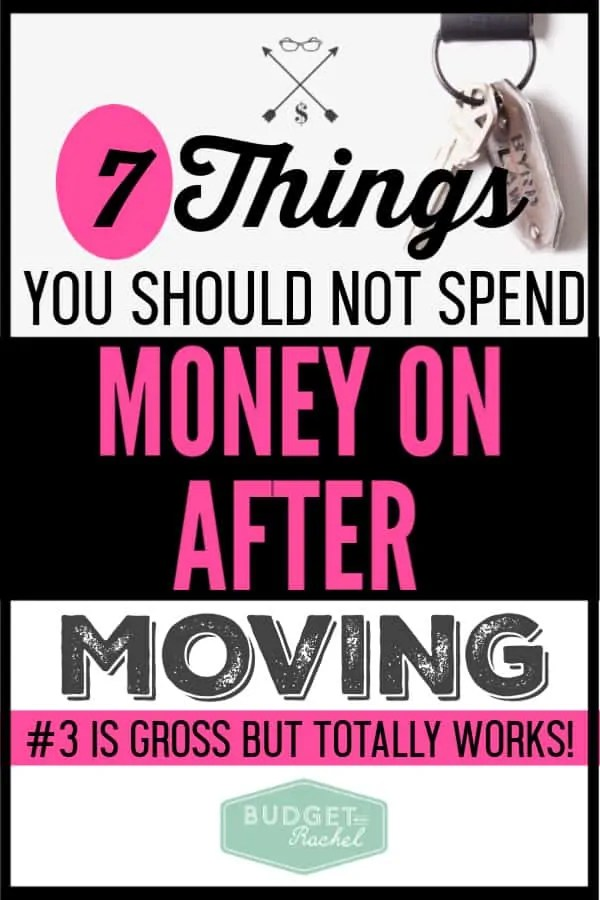 After we moved, I followed these money saving tips, we saved at least $1,000! So amazing! There are so many moving expenses that can blow your budget. These tips to save money after a move helped us save so much money. #moneysavingtips #savemoney #budget