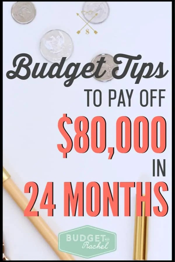 Budgeting and accomplishing debt payoff can seem like a far off goal you could never accomplish. Stop wondering if you can do it, and start working your plan! Use these budgeting tips to pay off debt super fast! These are the exact things that helped me pay off $80,000 in 24 months. #budget #budgettips #debtpayoff #freeprintables