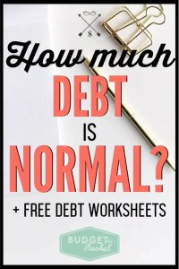 Do you know how much debt is normal? If you are in debt, you need to find out where you stand. Do you have too much debt? Discover the truth about debt and how to start getting rid of it! #debtfree #debtpayoff #financialfreedom