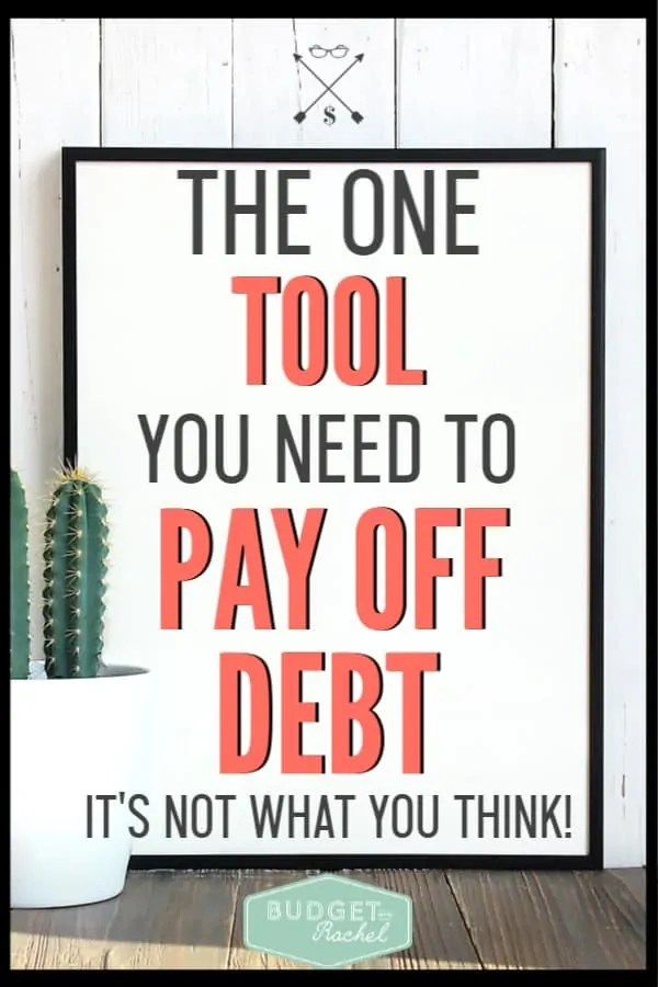 If you are ready to pay off debt, this is the one tool that can make all the difference! Achieve financial freedom when you implement this tool to help you become debt free. You may be surprised to learn how simple this really it! #debtfree #debtpayoff #financialfreedom