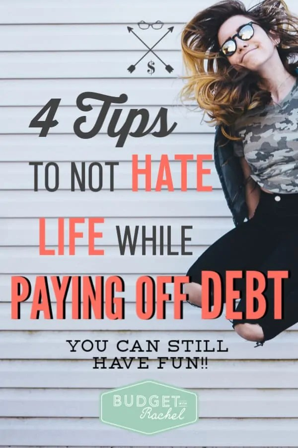Paying off debt can get a little tiresome if it doesn't happen right away. Most debt payoff plans take some time. So, while you are working your way through this, these are some amazing tips to help you still enjoy life! #debtpayoff #debtfree #financialfreedom