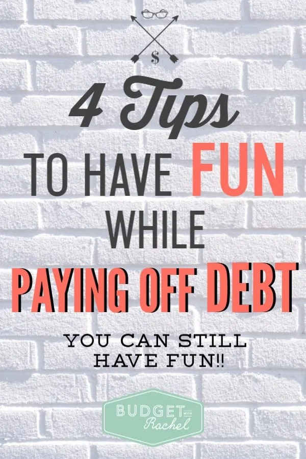 Paying off debt can seem almost like a painful process if you are new to it. But, it doesn't have to be that way! There are super easy ways to have fun while paying off debt. Your debt free journey can be enjoyable with these simple tips. #debtfree #debtpayoff #financialfreedom