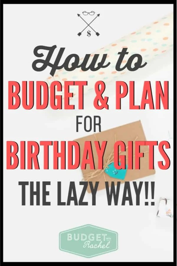 Birthday presents can be so expensive! This budgeting hack is so amazing! Now I always have birthday cards, easy gifts and I am on time for every event! This is how I will always plan for birthday gifts. Zero effort needed which is what I love!!