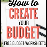 Not sure how to create a budget? Learn how to put together a budget in 10 minutes using our simple worksheets to walk you through step-by-step. Budget setup can be easy! Learn how to create your budget super fast. #budget #budgettips #freeprintables