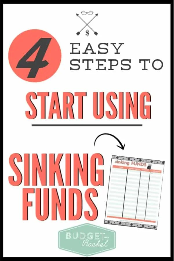 Ready to use sinking funds? Follow these super easy steps to start effectively using sinking funds in your budget and your life. Sinking funds are super simple to use and alleviate so much money stress. Get started today! #sinkingfunds #budget #budgettips