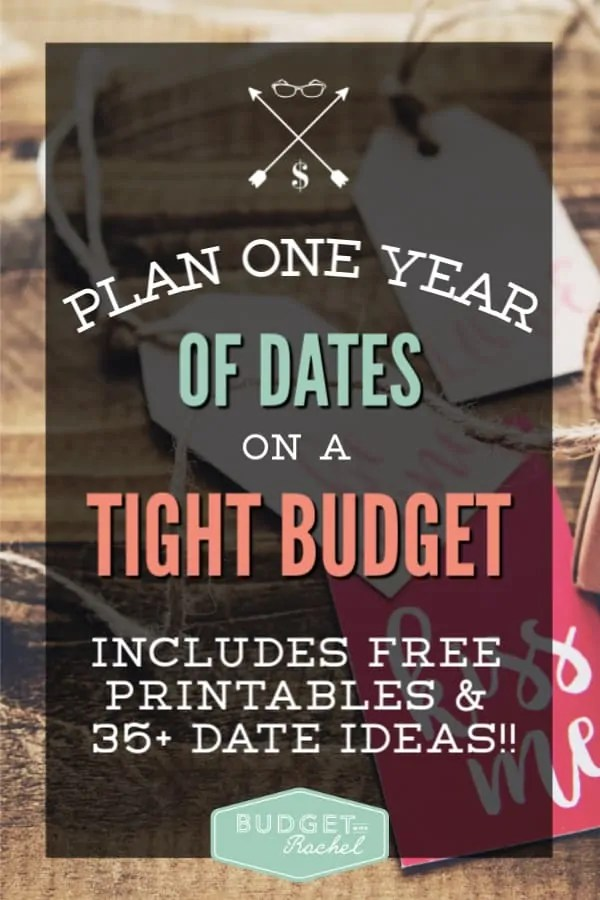 How to plan dates on a budget | creative dates that won't cost a fortune | cheap date ideas | inexpensive date ideas | one year of dates on a budget | low budget date ideas | how to set up an entire year of dates without a lot of money | date ideas #dateideas #budget #savemoney #moneysavingtips #freeprintables