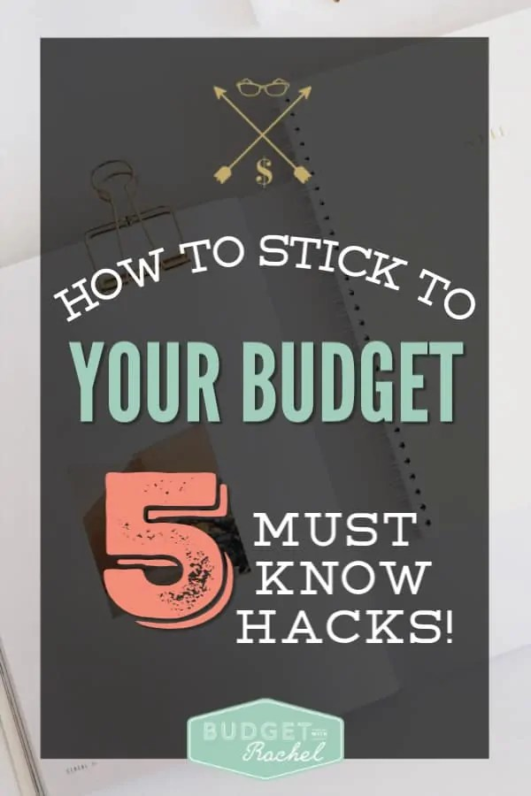 Learn how to stick to your budget | budgeting tips and tricks | hacks for sticking to your budget | don't go over budget with these 5 tips | budgeting tips | budgeting for beginners | how to stick to budget tips | how to stick to a budget to pay off debt | free printables | how to stick to a budget ideas #budget #freeprintables #budgetingmoney #moneymanagement