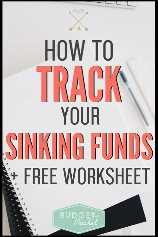 Sinking funds can help you stick to your budget every month and not have surprise expenses. Follow these steps to track your sinking funds and be successful with your money. #sinkingfunds #financetips #savemoney