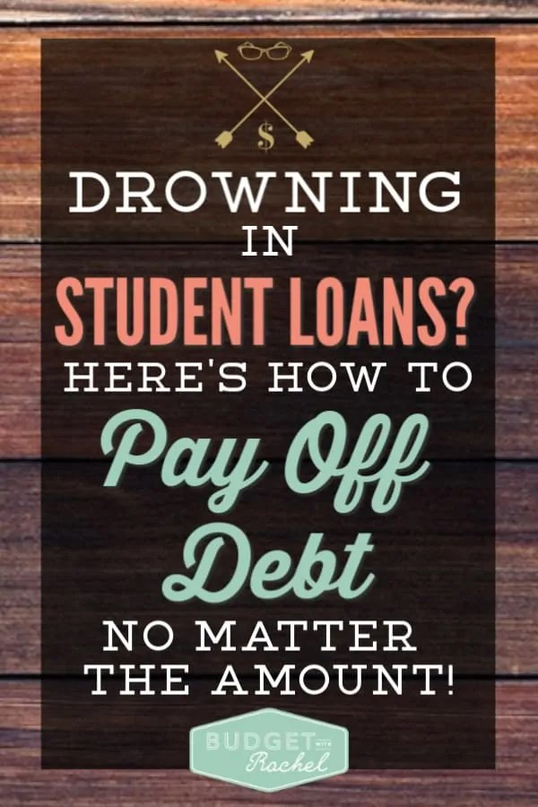 My student loans were completely overwhelming. We didn't know how to begin to pay off debt. Student loan debt can be paid off! Learn how to pay off debt no matter how much money you owe, especially student loans! I'm so glad I found this! We are now becoming debt free!