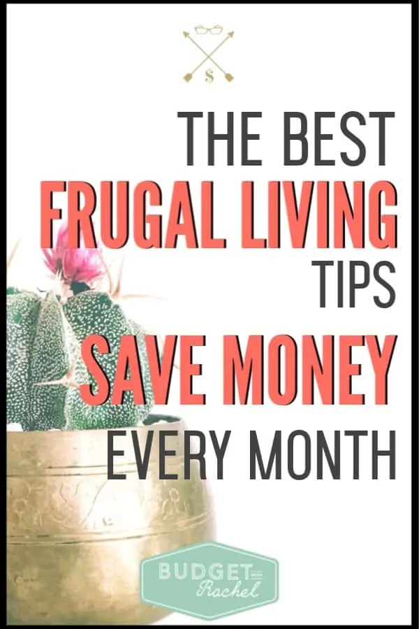 These frugal living tips helped me save so much money every month! If you are looking for super easy changes to make to start saving some serious cash, this is it! Don't be scared by frugal, these are so easy to implement! #frugalliving #savemoney #moneysavingtips