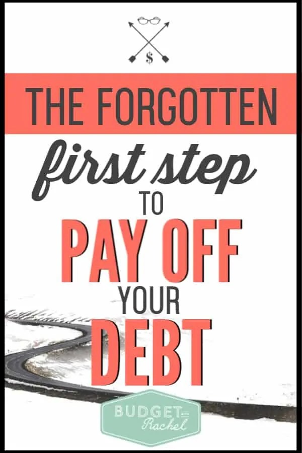 Becoming debt free is journey you decide to take. Before you get started, there is one important step you should be taking to ensure you are successful with your debt payoff plan. Financial freedom is achievable when you become debt free. Just don't skip this super important first step! #debtfree #debtpayoff #financialfreedom