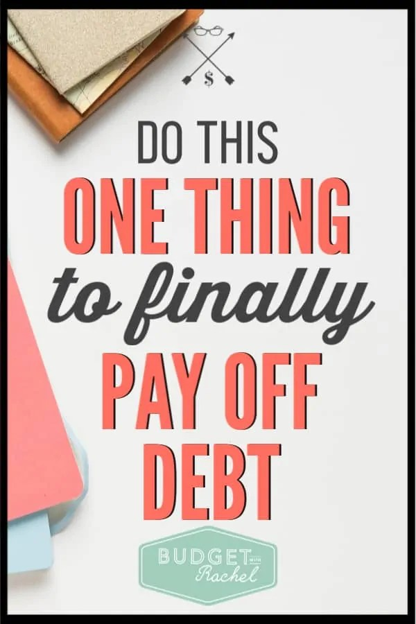 If you have been struggling to pay off debt, you are probably missing this one thing. If you can make this simple change, you can start paying off debt and finding financial freedom. Become debt free using this simple tip! #debtfree #debtpayoff #financialfreedom