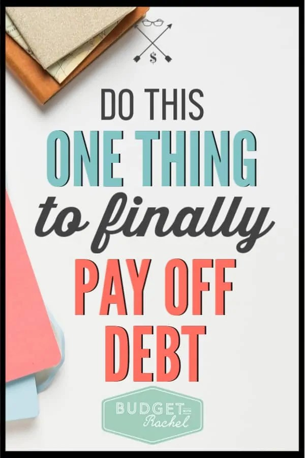 If you are struggling to pay off debt, you just need to start doing this one thing. Becoming debt free is possible! Use this debt payoff tip to start working toward financial freedom today. #debtfree #debtpayoff #financialfreedom
