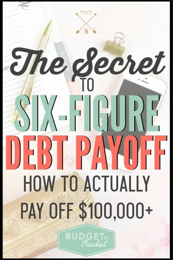Want to know how to pay off big debt? This is the secret to actually pay off a large amount of debt and anyone can do it! Start working on becoming debt free today and start heading toward financial freedom. #debtfree #debtpayoff #financialfreedom