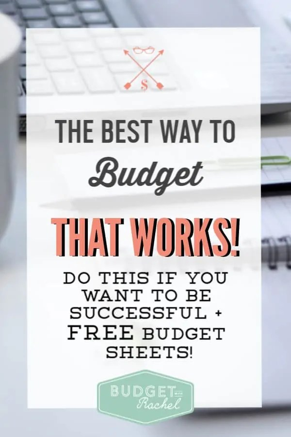 Do this one thing to get your budgeting on track | This is the secret to actually being successful with your budget | budgeting for beginners | budgeting tips for beginners | money management tips | free printables #budget #budgettips #freeprintables #personalfinance