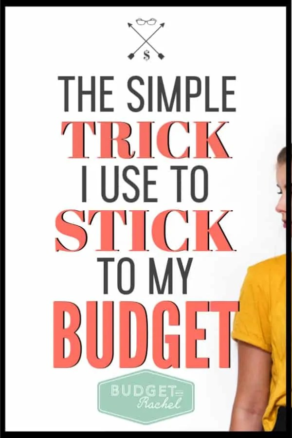 If you are struggling with actually sticking to your budget, you need to try this one thing! This little trick will help you use your budget and actually stick to it every month. Start being successful with your budget today with this simple budget tip! #budget #budgettips #personalfinance