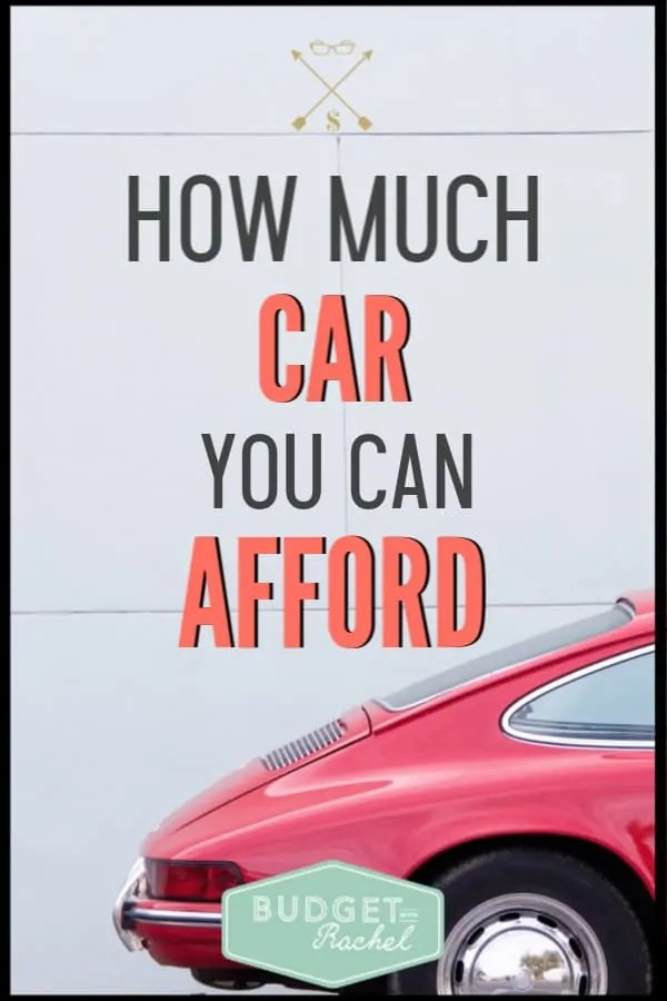 If you are looking to buy a new car, make sure it is something you can afford! This is exactly how to know how much car you should be buying to not get yourself into financial trouble. Find out how much car you can actually afford. #budget #budgettips #personalfinance