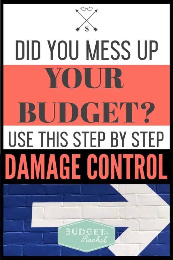We have all been there. You make your budget, but then something happens and we totally mess it up. Instead of stressing out when this happens, follow these simple budget tips to get back on track. #budgettips #budget #financetips