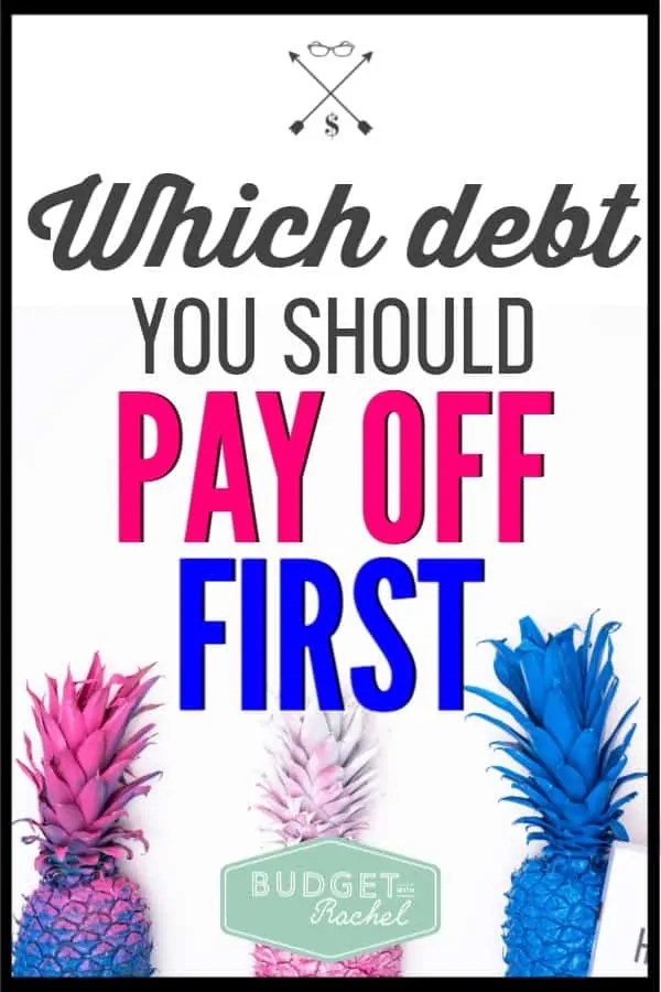 Debt payoff can seem confusing when you are just starting. Follow these steps to know which debt to pay off first. I was super confused and didn't know which debt I should be paying off first. Do I look at interest rate? Do I look at debt amount? So confusing! These tips made it super easy to start my debt payoff plan and knock out my debt super fast!