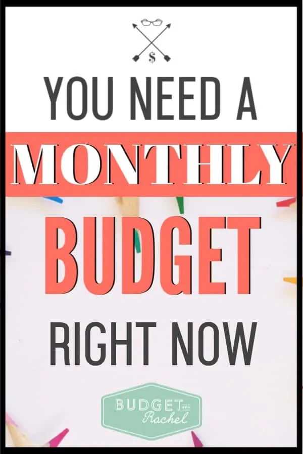 I used to not live on a budget, and when I did try to budget, it just didn't work. This monthly budget totally worked for me and changed my financial life. If you aren't on a monthly budget, you need to try this! #budget #budgettips #savemoney