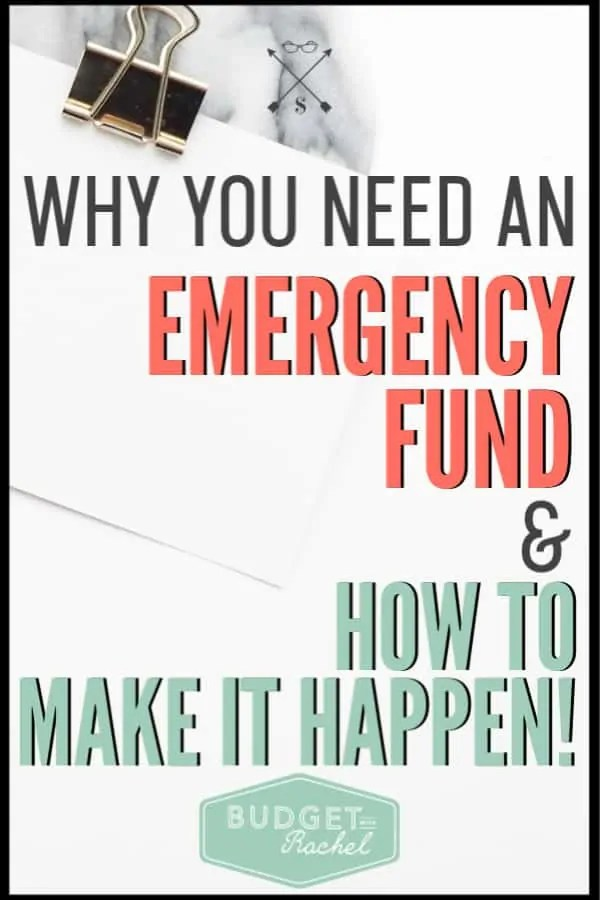 If you have been living without an emergency fund, you need to check this out! Learn why you need an emergency fund and how to set yourself up with one. #savemoney #moneysavingtips #budget