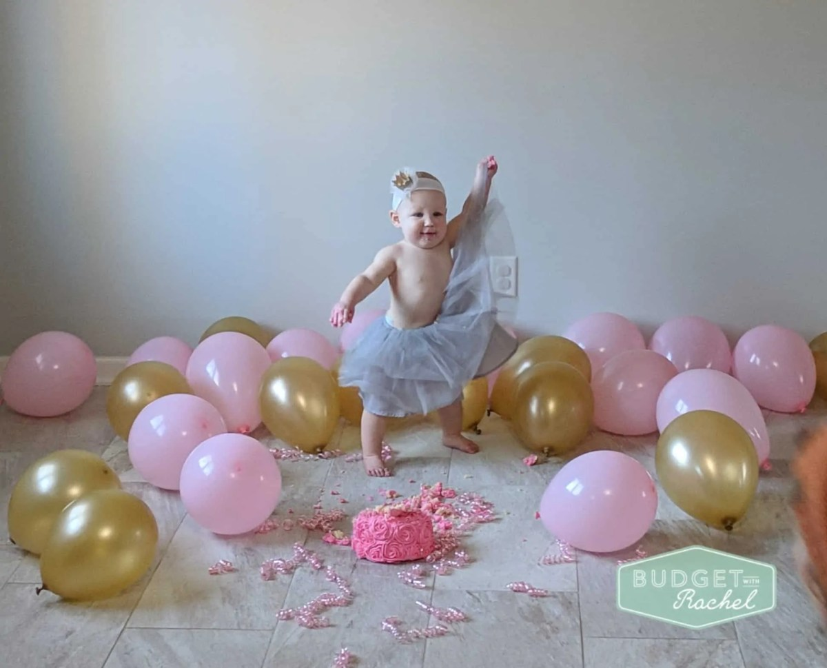 smash cake girl in tutu
