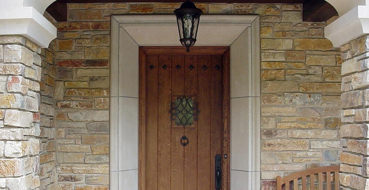 Casually Elegant Veneer Stone Home Chilton Rustic Exterior