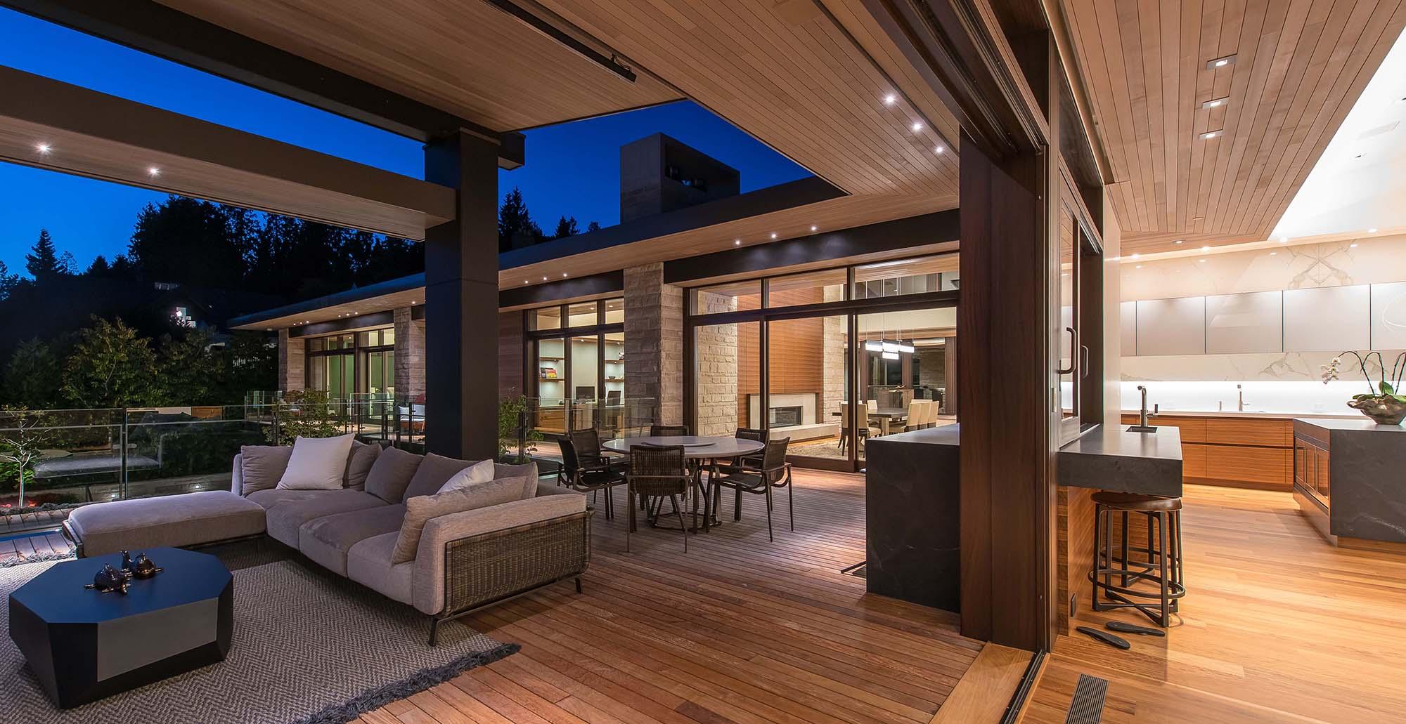 indoor outdoor patio stone veneer exterior modern dream home design buechel stone