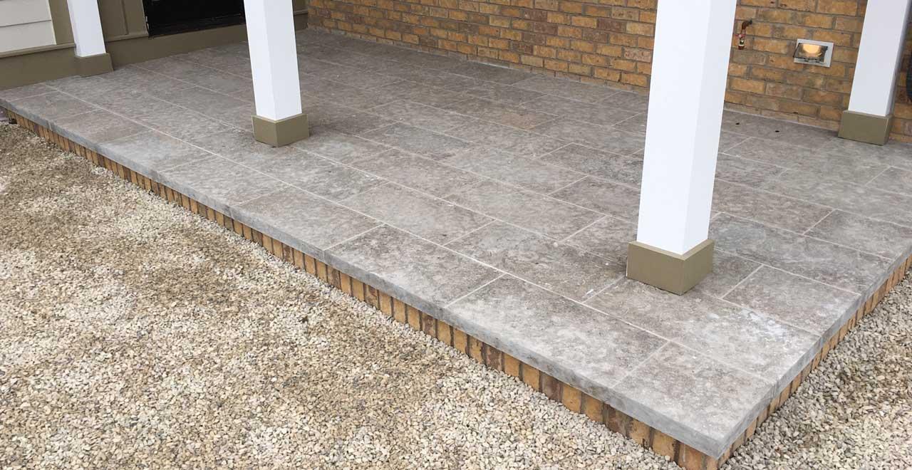 exterior front porch patio stone veneer