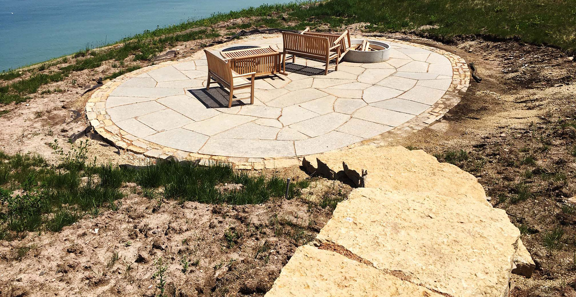 Backyard landscaping outdoor living decor fire pit ... on Living Room Fire Pit id=30017