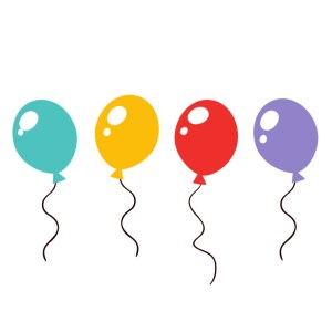 Bügelbilder SET Ballon