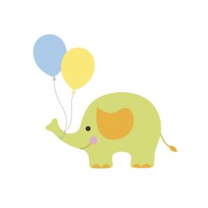 Bügelbild Elefant