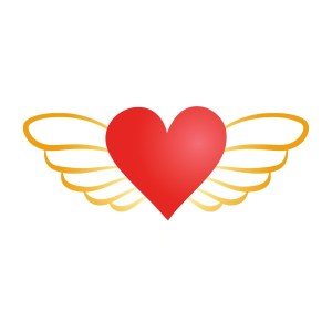 Bügelbild Flying Heart