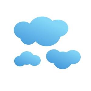 Bügelbild Wolken