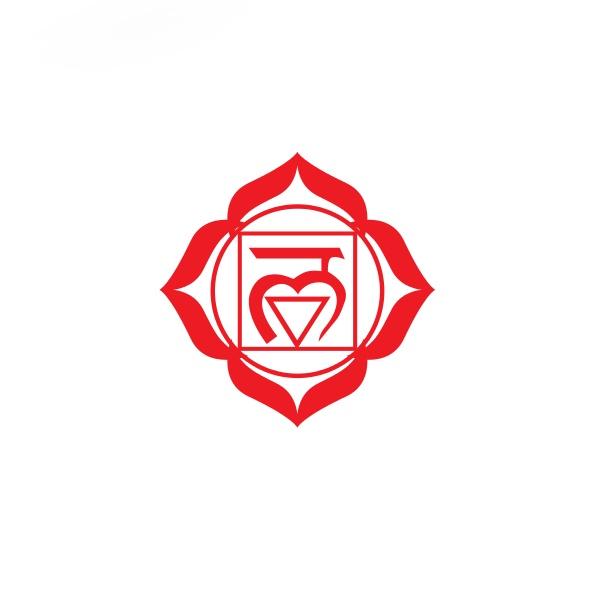 Bügelbild Muladhara Chakra