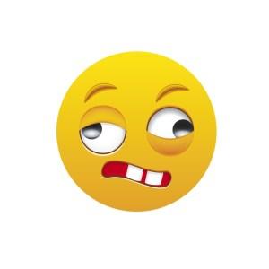 Bügelbild Emoji - CRAZY