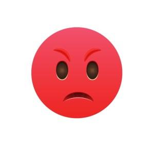 Bügelbild Emoji - BÖSE