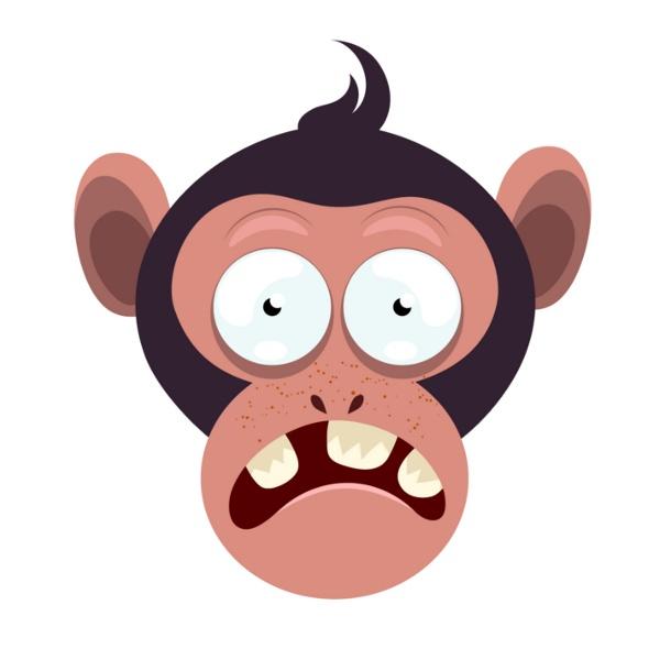 Bügelbild Monkey 4